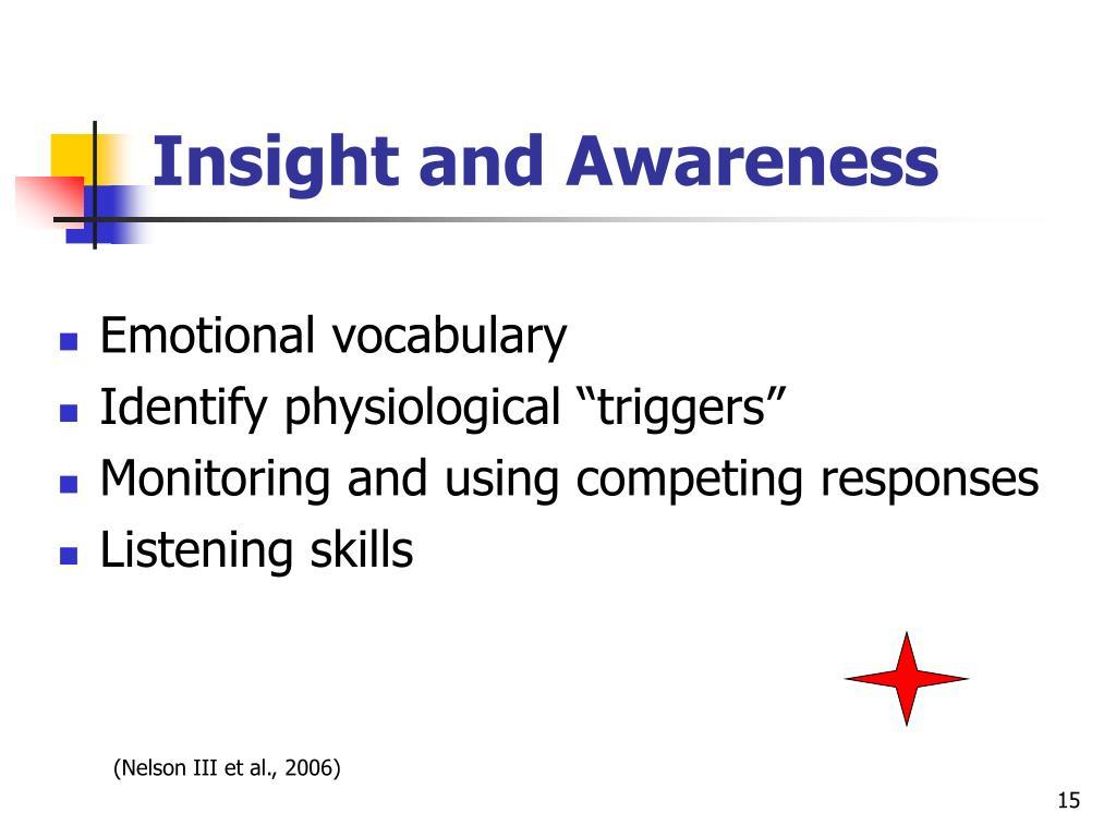 Insight and Awareness