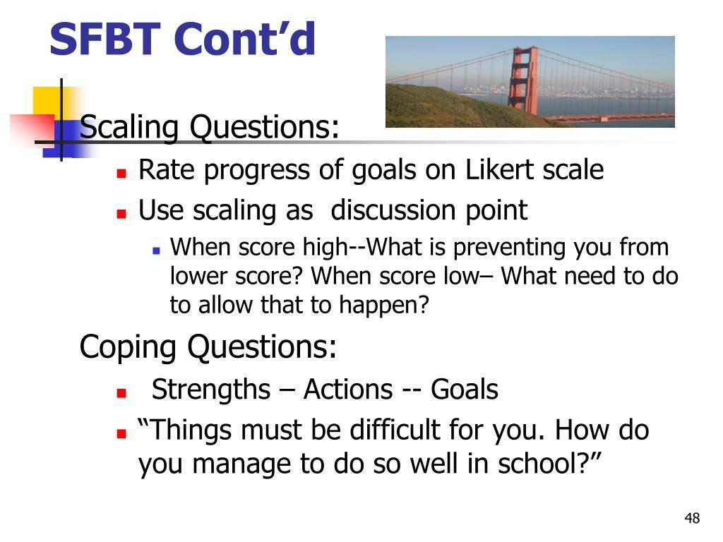 SFBT Cont'd