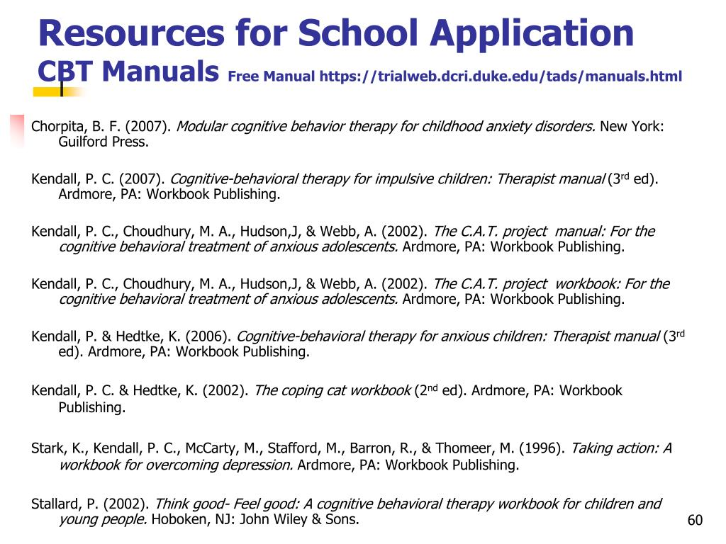 Resources for School Application