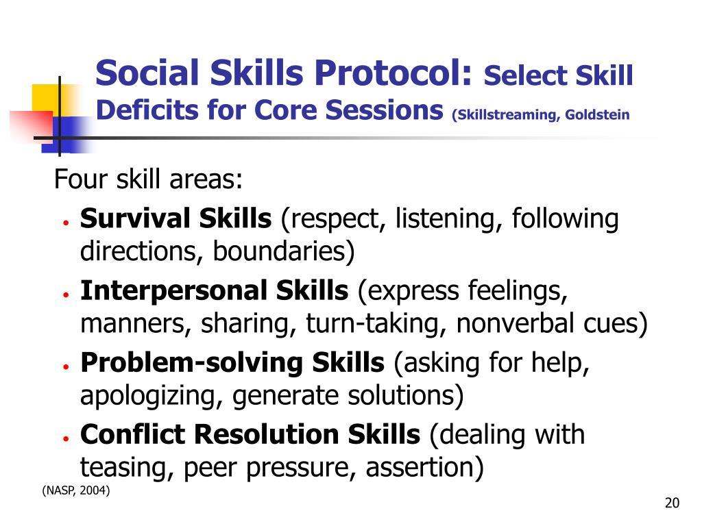 Social Skills Protocol: