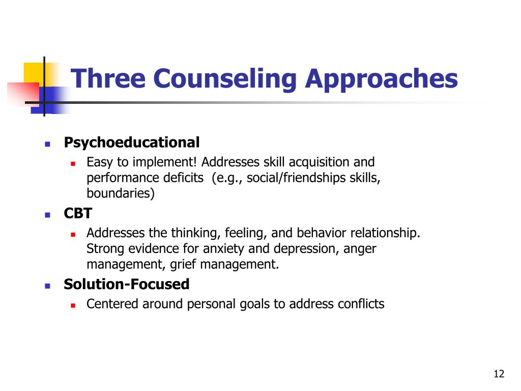 Three Counseling Approaches