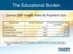 the educational burden32