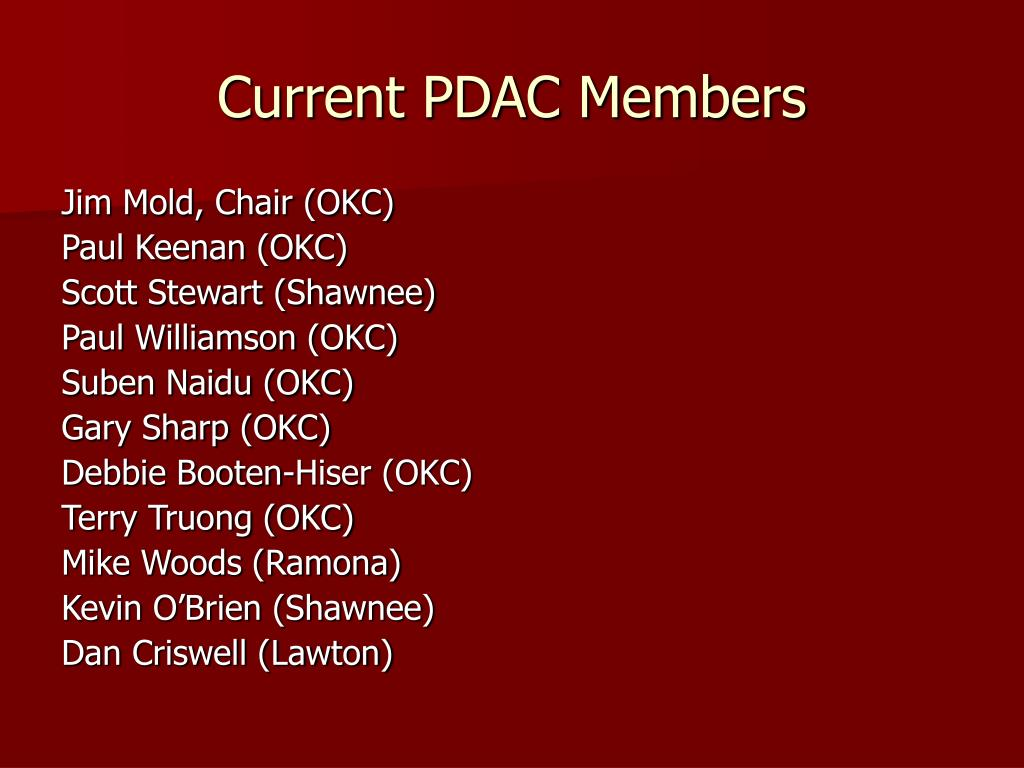 Current PDAC Members