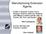 manufacturing extension agents