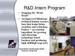 r d intern program