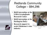 redlands community college 94 296