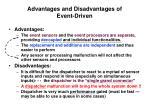 advantages and disadvantages of event driven