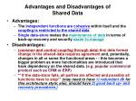 advantages and disadvantages of shared data