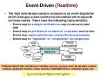 event driven realtime