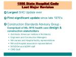 1998 state hospital code last major revision
