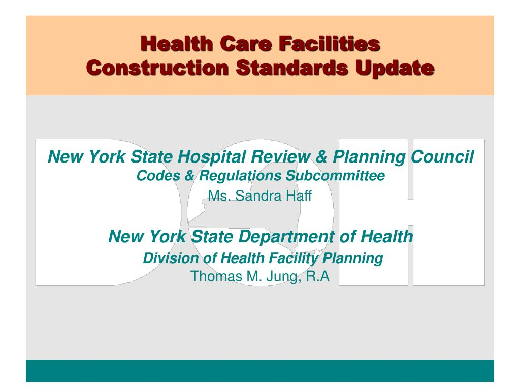 health care facilities construction standards update l.