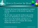 how to examine the heart2