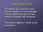 field element size