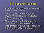 fyi spectral radiance