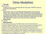 other modalities