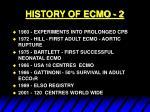 history of ecmo 2