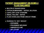 patient managment on ecmo 2 fluid balance