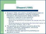 shepard 1993