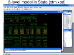3 level model in stata xtmixed