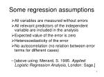 some regression assumptions