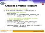 creating a vertex program2