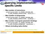 querying implementation specific limits