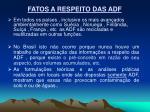 fatos a respeito das adf