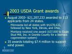 2003 usda grant awards