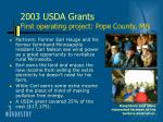 2003 usda grants first operating project pope county mn