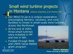 small wind turbine projects in montana glacier stanford and chester mt