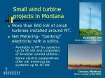 small wind turbine projects in montana