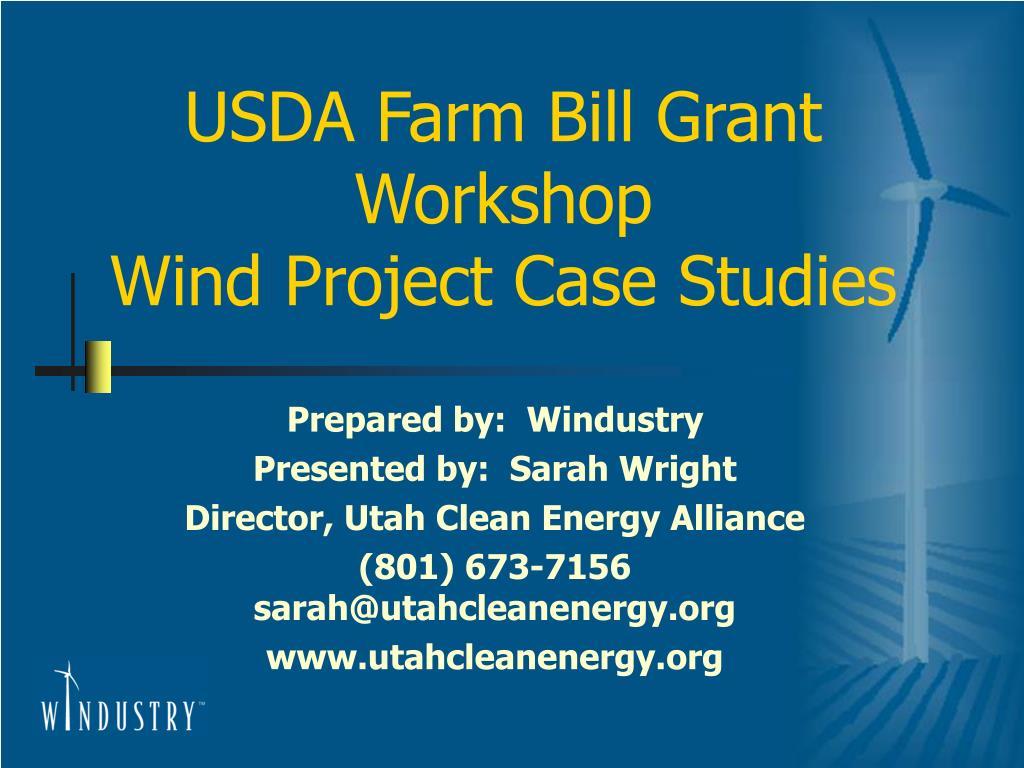 usda farm bill grant workshop wind project case studies l.