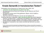kreole semantik in franz sischen texten
