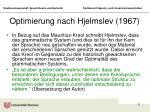 optimierung nach hjelmslev 1967