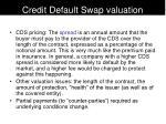 credit default swap valuation