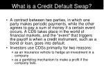 what is a credit default swap