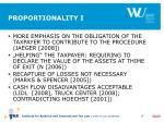 proportionality i