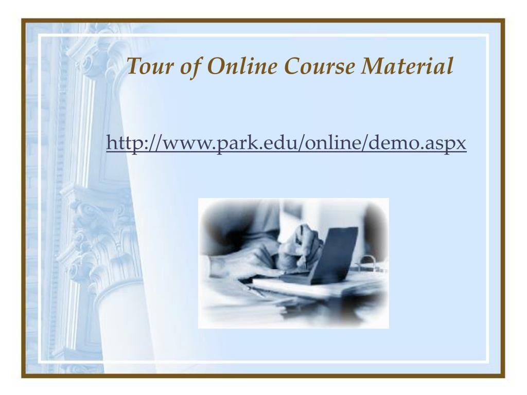 Tour of Online Course Material
