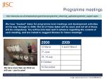 programme meetings