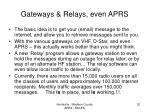 gateways relays even aprs