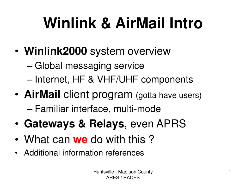 winlink airmail intro l.