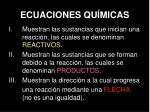 ecuaciones qu micas
