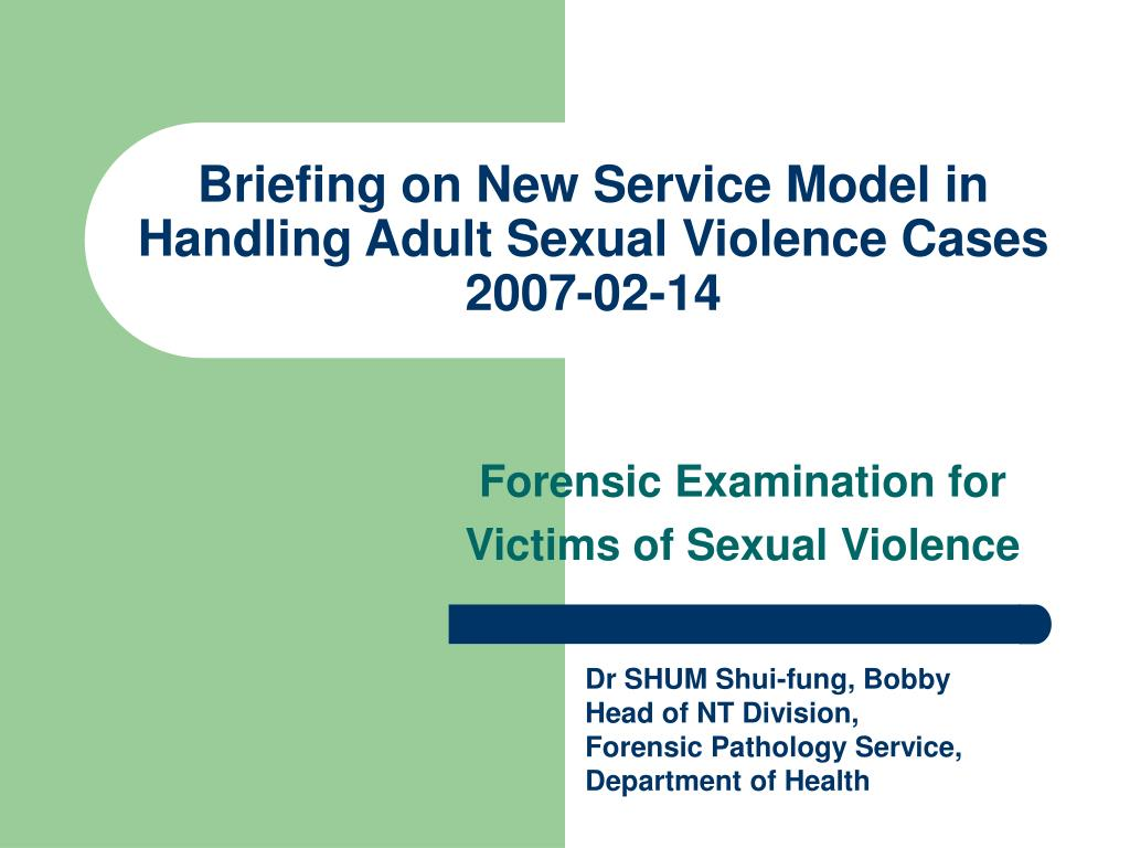 briefing on new service model in handling adult sexual violence cases 2007 02 14 l.