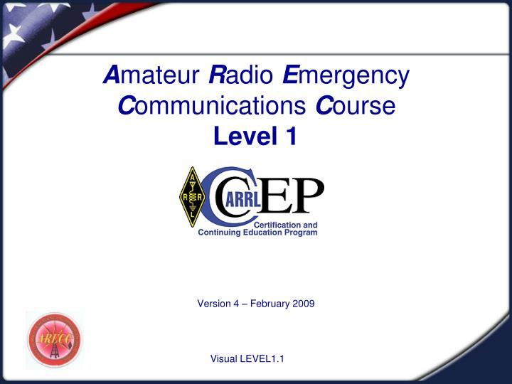 a mateur r adio e mergency c ommunications c ourse level 1 n.