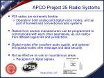 apco project 25 radio systems
