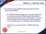 ares vs races faq3