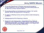 army mars mission