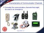 characteristics of communication channels