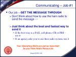 communicating job 11