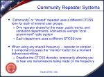 community repeater systems